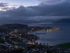 Gourock at night (Rourkeor) Tags: cowalpeninsula firthofclyde gourock mzuikodigitaled12‑100mm140ispro m43 omdem1markii olympus scotland uk clouds lightshadows mft nighttime reflections greenock unitedkingdom gb