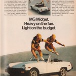 1978 MG Midget Advertisement Playboy May 1978 thumbnail