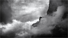 The Creation... (Ody on the mount) Tags: anlässe berge dolomiten em5ii himmel mzuiko40150 omd odles olympus südtirol urlaub wanderung wolken bw clouds monochrome mountains quadratisch sw square
