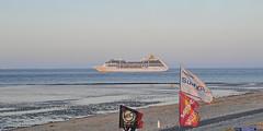 Have a good journey on all the seas! (Manfred_H.) Tags: vehicles wasserfahrzeuge fahrzeuge schiffe cruiser kreuzfahrtschiff riverelbe elbe cuxhaven