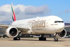 Emirates Triple 7 (A6-ENK) (Fraser Murdoch) Tags: emirates ek uae ek27 uae27 a6enk enk a6 united arab dubai omdb dxb glasgow international airport egpf gla ge90 fraser murdoch photography aviation b777 b773 b77w 777 773 77w boeing 777300 777300er b777300 b777300er stand 35 taxiway november scotland scottish