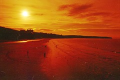 Red Thanet. (von8itchfisk) Tags: film filmisnotdead ishootfilm lomography redscale analog analogphotography 35mm beach coast sand northsea sun people yorkshire whitby vonbitchfisk