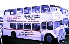 Slide 122-70 (Steve Guess) Tags: epsom downs surrey england gb uk bus bristol lodekka ld ecw leisure bookmakers bru981 hants dorset