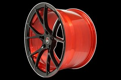 project-6gr-10-ten-gloss-black-red-barrel-03 (PROJECT6GR_WHEELS) Tags: project 6gr 10ten full forged 19x11 rspecs shelby gt350 ford mustang gt s550 gloss black candy apple red barrel custom finish two tone