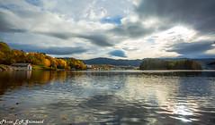 Fanafjorden (2000stargazer) Tags: fanafjorden fanahammeren melkeviken fanafjellet bergen norway fjord reflections cloudscape waterscape landscape nature autumn autumncolours fall canon