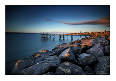 Rock On (Deek Wilson) Tags: holywood jetty belfastlough rocks coastline seascape landscape sunset eveninglight northernireland longexposure