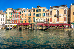 A typical looking waterfront in Venice Italy.