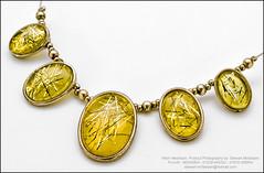 Ladies Costume Necklace (Stewart Mcfadyen) Tags: gold amber jewellery jewelry elegant ladies jewels costume necklace product photo photography chain professional yellow white nikon afdmicro nikond300 speedlight flash strobe su800