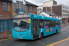 Arriva NW MX09JJF (Mike McNiven) Tags: arriva northwest wright pulsar2 wigan busstation sthelens depot