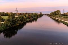 Morgens am Rhein-Herne Kanal (Re Ca) Tags: rheinhernekanal ruhrgebiet ruhrpott nrw sonnenaufgang sunrise goldenhour goldenestunde kanal