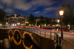 The Golden Arches v2 (Trent's Pics) Tags: golden arches long exposure night life photography amsterdam architecture canals city cityscape clouds holland lamps lights netherlands river water sky