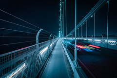 Clifton Suspension Bridge, Bristol, UK (KSAG Photography) Tags: bridge suspensionbridge history heritage engineering architecture brunel bristol somerset uk unitedkingdom england britain europe city urban longexposure night nightphotographyroad car nikon wideangle october 2018 autumn