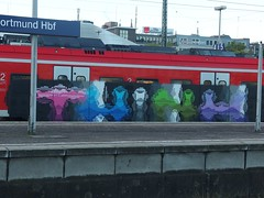 THINK (mkorsakov) Tags: dortmund hbf bahnhof mainstation sbahn s5 graffiti piece bunt colored think