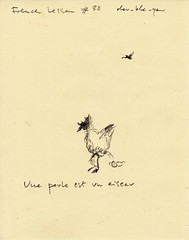 French lesson #38 (dou_ble_you) Tags: drawing penciloningrespaper 225x18cm doubleyou
