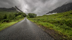 Open Road (Ulmi81) Tags: open road scotland scottish street tarmac panorama landscape way path car outdoor highlands glen etive coe rough weather clouds mountains green mist driving lonely remote europe