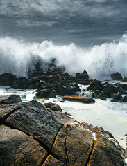Chaud Devant (ThibaultPoriel) Tags: latorche bretagne wave ocean nature wild waves rocks sea seascape sky dramatic