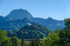 Gruyères Castle and the Fribourg Alps (Bephep2010) Tags: 2018 7markiii alpen alpha broc brocfr châteaudegruyères freiburg fribourg graf greyerz gruyères landschaft prealps sel24105g schloss schweiz sommer sony switzerland voralpen alps castle count landscape summer ⍺7iii kantonfreiburg ch
