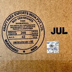 Kraft Pack Exports India Box Certificate (byzantiumbooks) Tags: moradabad boxcertificate kraftpack circles jul