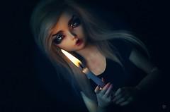 Dolltober Day 19 : Candle (Chantepierre) Tags: bjd balljointeddoll balljointed doll fairyland fairyline minifee minifée ria fc fullcusto full custo custom chantepierre ladicius dolltober2018 dolltober 2018