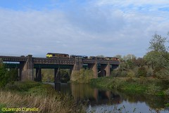 67027 Sharnbrook Viaduct 20th October 2018 (Lorenzo's Modern Traction) Tags: 67027 67023 3j92 toton tmd west hampstead north junction rhtt sharnbrook viaduct mml
