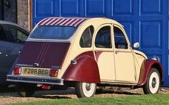 F288 BEG (Nivek.Old.Gold) Tags: 1989 citroen 2cv6 special dolly duxfordservicestation cambridge