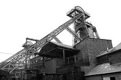 (Capt' Gorgeous) Tags: coal mine southwales rhondda blackandwhite industry rhonddaheritagepark museum pit headgear