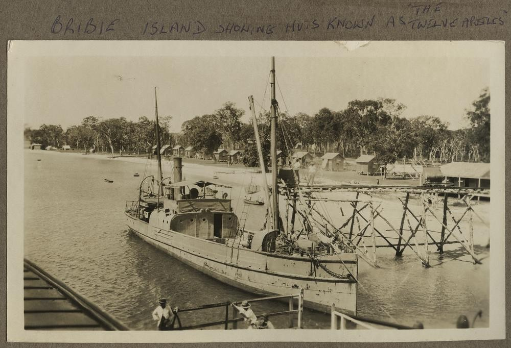 SS Porpoise at the jetty at Bongaree, Bribie Island, Queensland, 1924