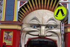 Luna Park (Dennisbon) Tags: dennisbon canon eos 7d melbourne australia tramtransport public beach stkilda tourist nopeopletrees greem lunapark