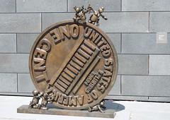 Big Big Penny, Tom Otterness (Mount Fuji Man) Tags: sculpture sfmoma