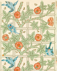 Trellis by William Morris (1834-1896). Original from The MET Museum. Digitally enhanced by rawpixel. (Free Public Domain Illustrations by rawpixel) Tags: antique art artwork background beautiful bird bloom blossom blue bohemian botanical branch cc0 climbing colorful decor decorative delicate design detailed floral flower garden grapevine graphic green growing interiordesign ivy lattice morris name nature old orange pattern pdproject plant print publicdomain retro rose season style textile trellis vine vintage wallpaper william williammorris yellow