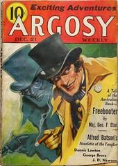 Argosy Weekly Vol. 260, No. 6 (Dec. 21, 1935).  Jekyll & Hyde Cover by Paul Stahr. (lhboudreau) Tags: pulp magazine magazines pulpmagazine pulpmagazines magazinecoverart pulpmagazinecover pulpmagazinecovers magazinecover magazinecovers argosy argosymagazine argosyweekly december211935 1935 sciencefiction mystery adventure paulstahr stahr pulpart pulpfiction jekyllhyde pulpcover volume260number6 taleoftheaustralianbush freebooter majgeofeliot yangtze alfredbatson cigar gun mask hat tophat smile painting