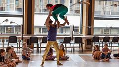 Dancing in the library of Arnhem (Ramireziblog) Tags: dansers dancing bibliotheek arnhem library workshop children canon 6d