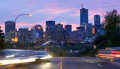 Going to Town! (VanveenJF) Tags: edmonton canon fd 200mm ssc sony manual lens alberta evening ice district tourist