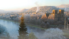 Inverness on a frosty morning (M McBey) Tags: scotland inverness mist frost morning river ness standrew