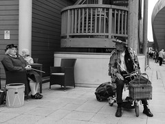 You Bring the Drum (Bury Gardener) Tags: burystedmunds bw blackandwhite england eastanglia uk britain 2018 snaps suffolk streetphotography street streetcandids candid candids people peoplewatching folks arc thearc