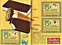 Sealtest ice cream bars, 1965 (STUDIOZ7) Tags: sealtest icecream dairy kraft breyers 1960s sixties 60s character cone sandwich treats