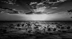 The Arrival (JDS Fine Art Photography) Tags: monochrome bw ocean sea clouds lightrays sunset inspirational spiritual atmosphere