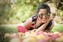 Apple orchard (piamonyphoto) Tags: apple portrait people happy sunglasses reflection lifestyle
