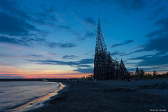台南 / 漁光島 (Chester photography .) Tags: none 台南 台灣 taiwan tainan nice night 雲 sunset beach blue sun
