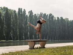 (dimitryroulland) Tags: nikon d600 85mm 18 dimitryroulland balance handstand performer art circus gym gymnast gymnastics natural light sceaux parc grass bench