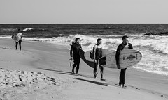 Watching the Surf (Dalliance with Light (Andy Farmer)) Tags: jersey surfing beach ocean monochrome asburypark nj bw surfer shore newjersey unitedstates us