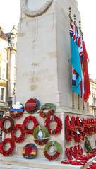 Armistice Centenary Wreaths (Lawrence OP) Tags: london cenotaph armistice100 2018 wreath poppy military standards