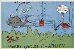 The Codfish - California (73sand88s by Cardboard America) Tags: qsl cbradio vintage california qslcard citizensband cb