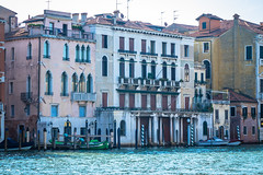 A look at the different size, shape and colors of buildings in Venice Italy.