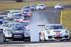 The first Start of the second GT3 Cup challenge race. (Campbell Armstrong Rider) Tags: porsche motorsport motor sydney australia racing auto car cool photograph photography nikon d7200 nikkor sedan hatch tags automobile automotive smsp track road nsw ardc sydneymotorsportpark motorracing racetrack campbellarmstrongrider nikond7200 carracing autoracing autosport newsouthwales australianracingdriversclub