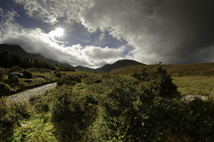 A view of Carrauntoohil from Hag's Glen (To see a World in a Grain of Sand And a Heaven in ) Tags: carrauntoohil hagsglen killarney countykerry ireland landscapephotography nikond810 samyang12mmf28 fisheyelens touristdestination climbing rural