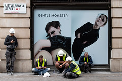 gentle monster shopfront - 20180612-IMG_1463 (roger_thelwell) Tags: oxford circus uk london beautiful street photography bw black white portrait people urban city commuters winter cold hat hats mobile phone cell england hair fleet strand life natural walking talking conversation chat speak speaking beauty handbag stud studs lamppost lamp post shiny shiney leather smoking cigarette westminster traffic cab taxi bag sac shoulder mono monochrome great britain streets photographs real photographic photos candid rain umbrella group