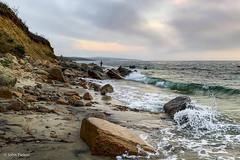 Fishing the North Shore (John Piekos) Tags: fishermen surfcasting surfcasters marthasvineyard waves iphone ocean mvderby iphonexs rockscliffs fishing dusk marthasvineyardstripedbassandbluefishderby shore