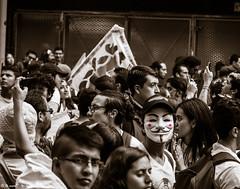 Guy Fawkes in DC. (satoprofor) Tags: protesta educación education bogotá dc city ciudad guy vendetta people mask fawkes
