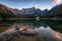 - lago di fusine - (verbildert) Tags: alps lake sunset reflections idyllic italy